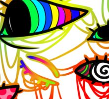 Psychedelic Eyes - Hallucinogenic and Colourful Sticker
