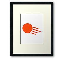 Ping pong ball Framed Print