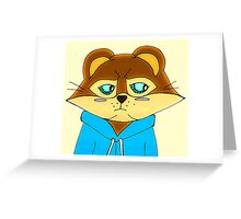 Cagey Coon Greeting Card