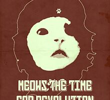 MEOWS THE TIME - Retro Red (redbubble exclusive) by chewgowski