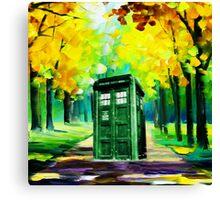 Tardis Art Paint Canvas Print