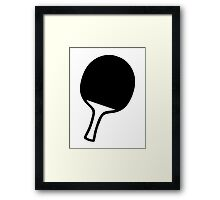 Ping Pong table tennis paddle Framed Print