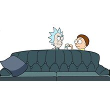 Rick and Morty Fist Bumb Photographic Print