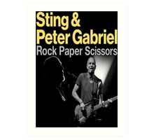 sting and gabriel paper scissors tour Art Print