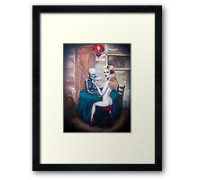 Strip poker Framed Print