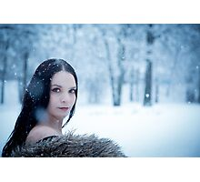 glamour portrait in the winter Photographic Print