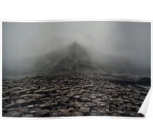 Foggy morning in Giant's Causeway Poster