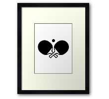 Crossed table tennis paddles Framed Print