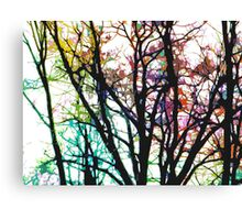 Rainbow Trees (light) Canvas Print