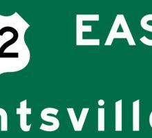 Huntsville, Road Sign, AL Sticker