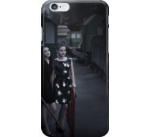 girls at the station iPhone Case/Skin