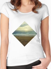 Ocean View - Apollo Bay Women's Fitted Scoop T-Shirt