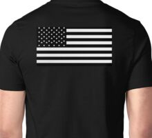 American Flag, Black, Stars & Stripes, USA, US, America Unisex T-Shirt