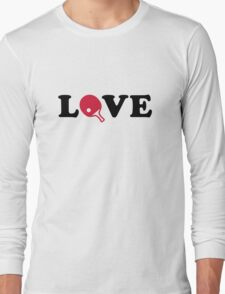 Ping Pong love Long Sleeve T-Shirt