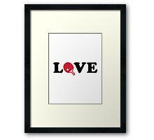 Ping Pong love Framed Print