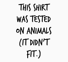 This Shirt Was Tested On Animals (It Didn't Fit) Men's Baseball ¾ T-Shirt