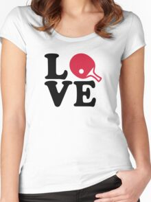 Ping Pong table tennis love Women's Fitted Scoop T-Shirt