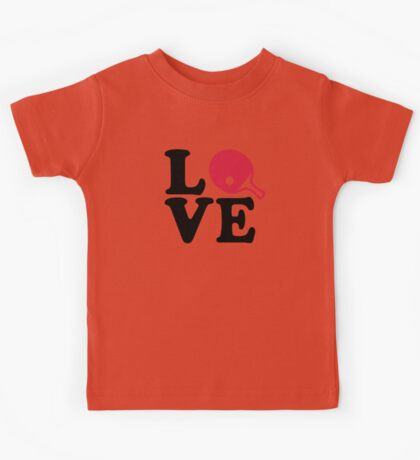 Ping Pong table tennis love Kids Tee