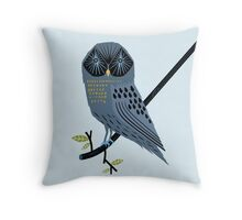 The Perching Owl Throw Pillow