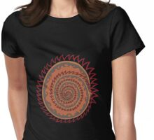 Spiked Wavy Spiral (orange) Womens Fitted T-Shirt