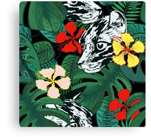 Tropical paradise. Exotic flowers. Jungle. Canvas Print