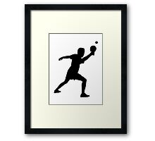Ping Pong player Framed Print