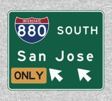 San Jose, Road Sign, CA One Piece - Short Sleeve