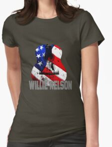 AMERICAN COUNTRY WILIE NELSON STYLE Womens Fitted T-Shirt