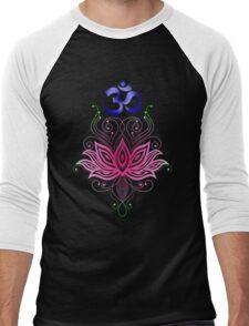 Lotus-Om Men's Baseball ¾ T-Shirt