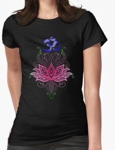 Lotus-Om Womens Fitted T-Shirt