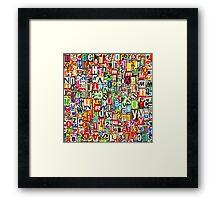 Digital Letter Collage Framed Print