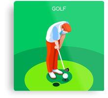 Golf 2016 Summer Games 3D Metal Print