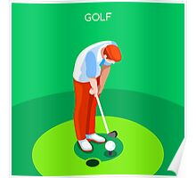 Golf 2016 Summer Games 3D Poster
