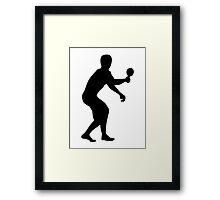 Table tennis player Framed Print