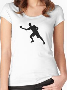 Ping Pong player Women's Fitted Scoop T-Shirt