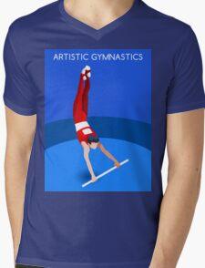 Gymnastics High Bar 2016 Summer Games  Mens V-Neck T-Shirt