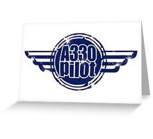 A330 Pilot Greeting Card
