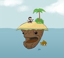 Monkey and Island by JCarrtoons