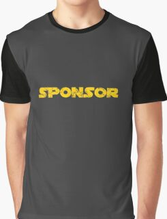 Sponsor Logo Aged Graphic T-Shirt