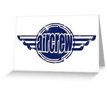 Aircrew Wings Greeting Card