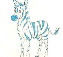 blue zebra by RoyceRocks