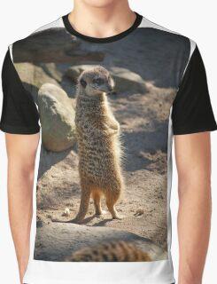 Meerkat on Lookout  Graphic T-Shirt