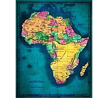 Map of Africa  Photographic Print