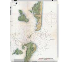 Vintage Map of The Barnegat Inlet (1865) iPad Case/Skin
