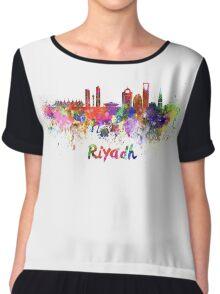 Riyadh skyline in watercolor Chiffon Top