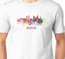 Riyadh skyline in watercolor Unisex T-Shirt