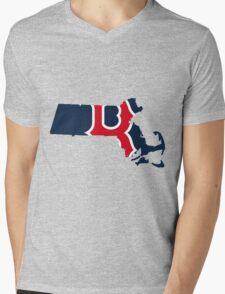 Boston Red Sox Mens V-Neck T-Shirt