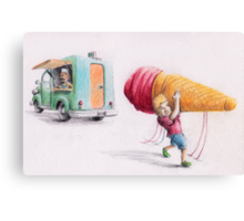 When you just want some Ice-Cream Canvas Print