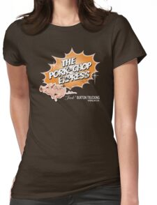 Pork Chop Express - Distressed Light Mocha Variant Womens Fitted T-Shirt