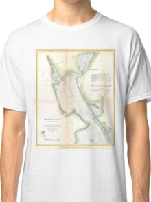 Vintage Port of Providence Rhode Island Map (1865) Classic T-Shirt